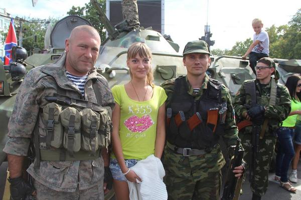 City Day in occupied Luhansk