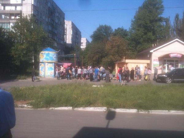 Makiivka, Queue for water