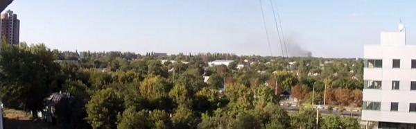 Smoke rises over Donetsk airport again