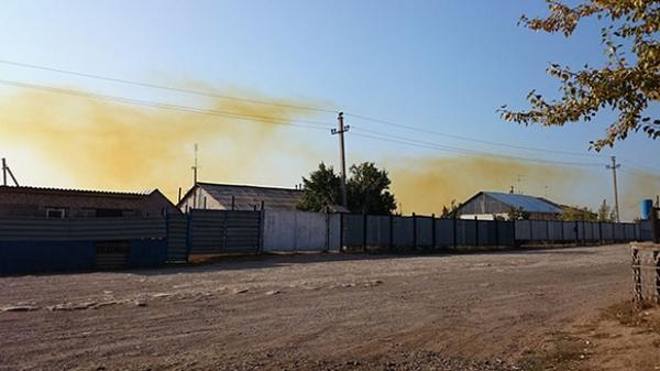 Leakage of rocket fuel  at military warehouse in Orenburg region of RF