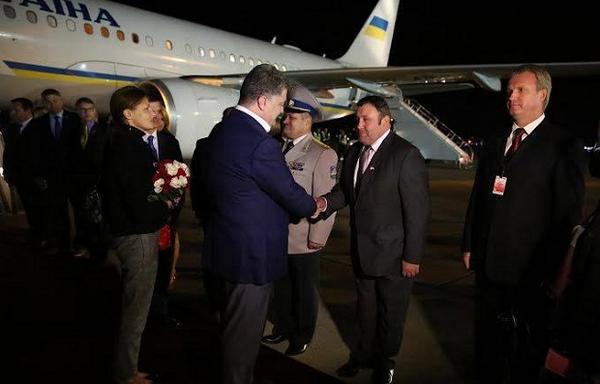 Poroshenko arrived in Canada