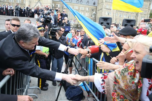 President of Ukraine met with representatives of the Ukrainian community in Canada