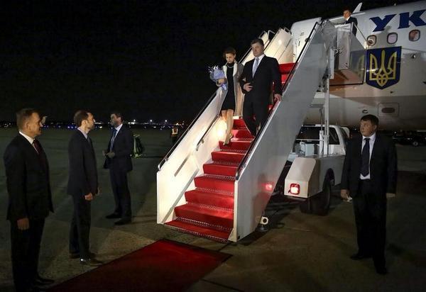 President @poroshenko arrives to the US
