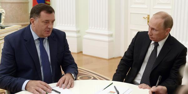 Putin met with President of the Republika Srpska entity of Bosnia and Herzegovina Milorad Dodik