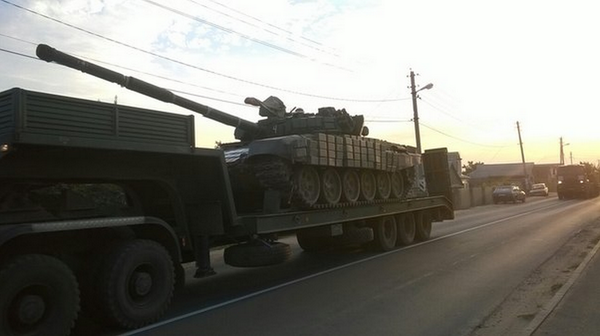 Rebels tank in Kamensk-Shakhtinsky, Russia