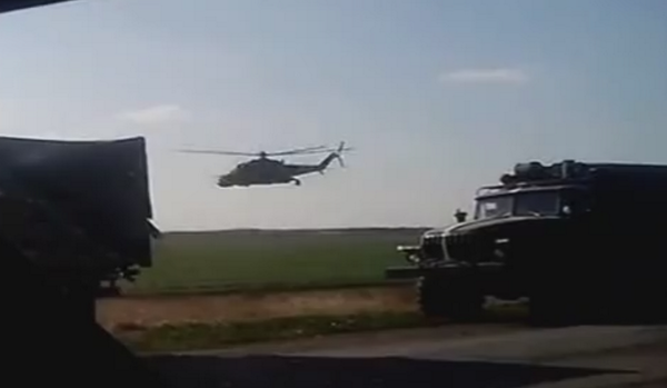 An Ukrainian convoy somewhere in Donbas recently