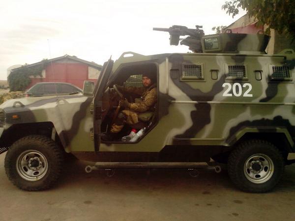 New vehicles of Ukrainian army