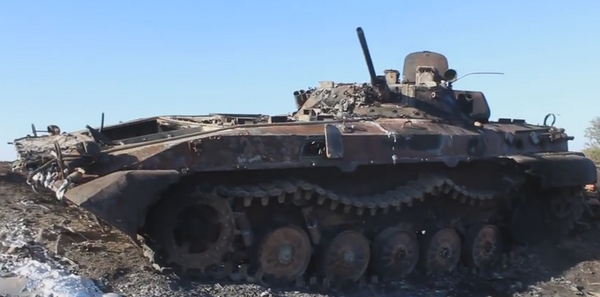 Rus. troops killed 4 Ukr. troops and destroyed a BMP near Kalinove