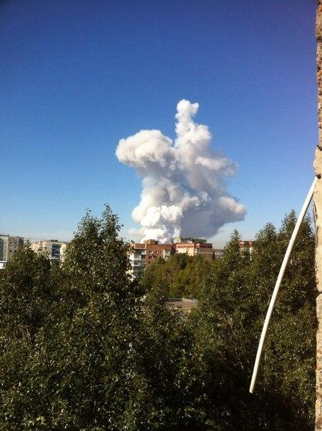 Donetsk two powerful explosions.
