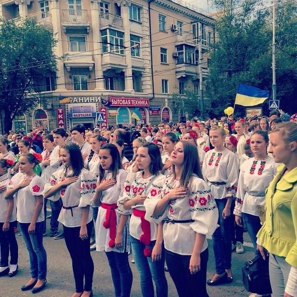 The Parade of embroidery in Mariupol