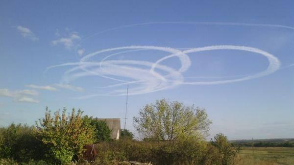 Circles in Donetsk sky