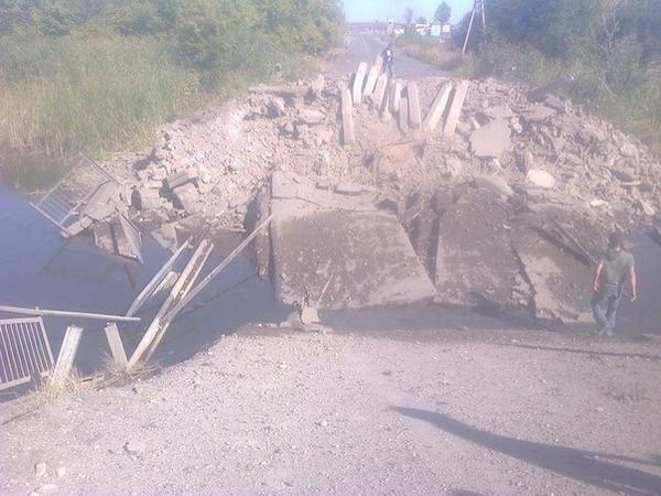 The bridge in Nyzhnya Krynka