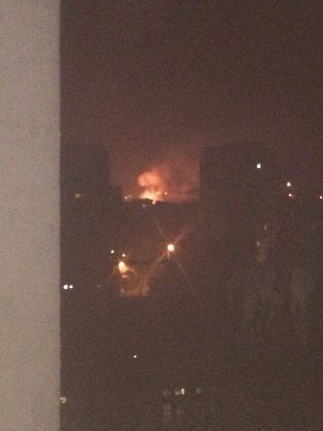 Donetsk now. Reports that shells hit gas pipeline