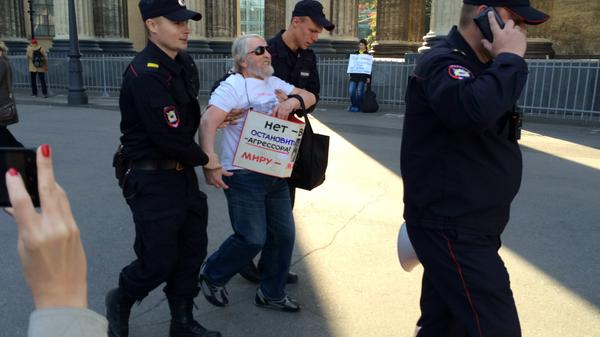 First arrested in St. Petersburg on rally in support of peace in Ukraine