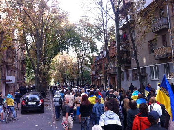 About a thousand in Kharkiv at the march of peace
