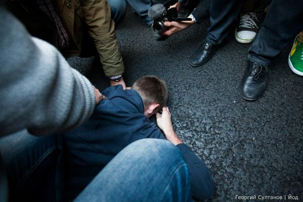March detained provocateur in Moscow