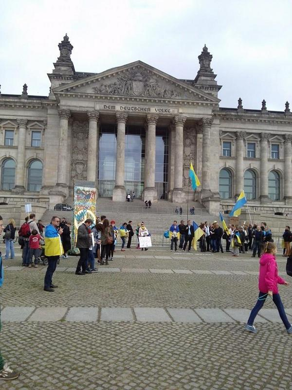 Rally in Berlin near reichstag