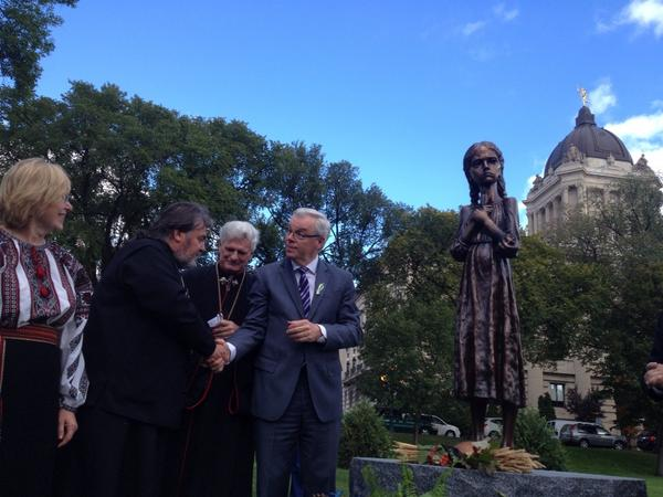 Monument for Holodomor  genocide unveiled at Manitoba Legislature in Winnipeg