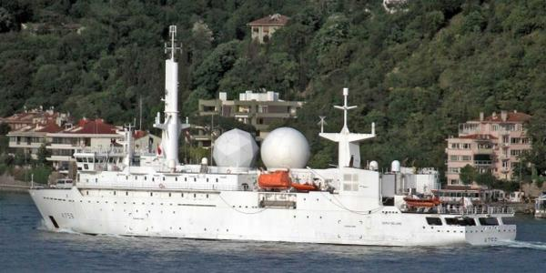 French sigint ship Dupuy de Lome entered the Black sea for 5 time this year