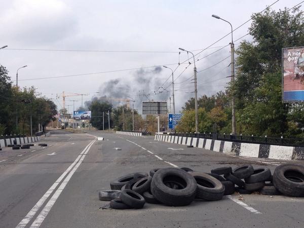 Donetsk airport held by Ukrainians on fire since yesterday ukraine