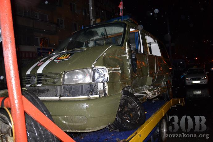 Ambulance carrying wounded from the ATO zone in road accident with Lexus
