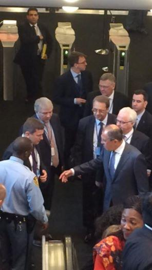 Sergey Lavrov and Vitaly Churkin arrived at @UN Headquarters to participate in the ministerial week opening @RussiaUN
