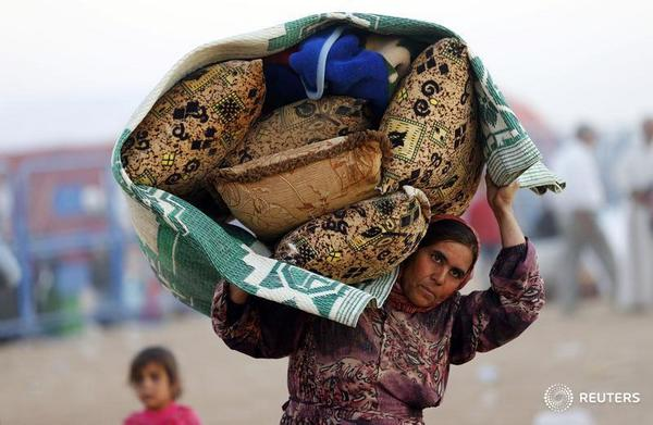 Refugees from Syria are flooding into Turkey.