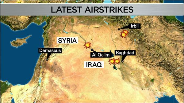 New airstrikes target ISIS in Syria
