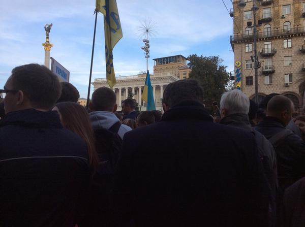 Klitschko speaking on the Maidan to people who blocked Khreshchatyk St.