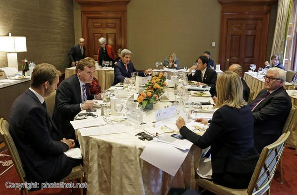 Behind the scenes of the G7 ForMin meeting in NYC: Focus on fight against ISIS, Ebola + situation in Ukraine.