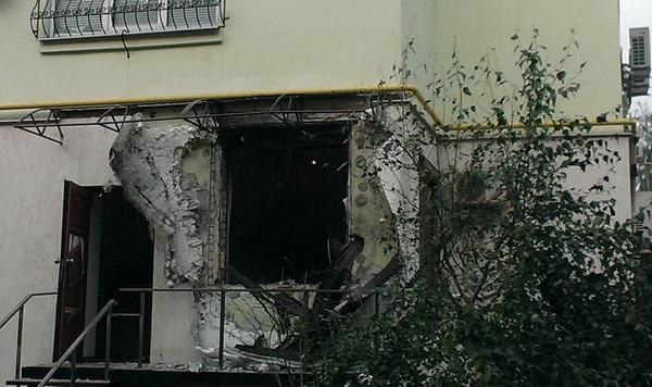 House in Kharkiv was shelled with rocket launcher tonight