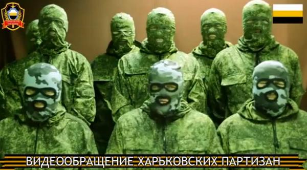 (Pro-)Russian green men gang threatens violence in Kharkiv