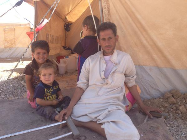 Families displaced by Islamic State forces say they support airstrikes in Iraq