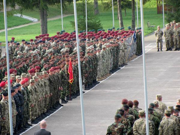 Closing ceremony of Exercise Rapid Trident in Ukraine.