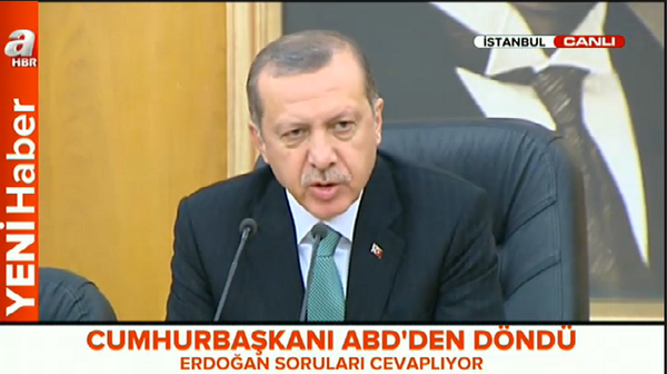 Erdoğan: Turkey hosts about 1.5 million refugees escaping from threats such as ISIS