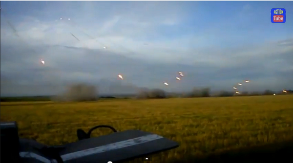 Ukraine forces returns GRAD fire on Russia troops who shelled their position