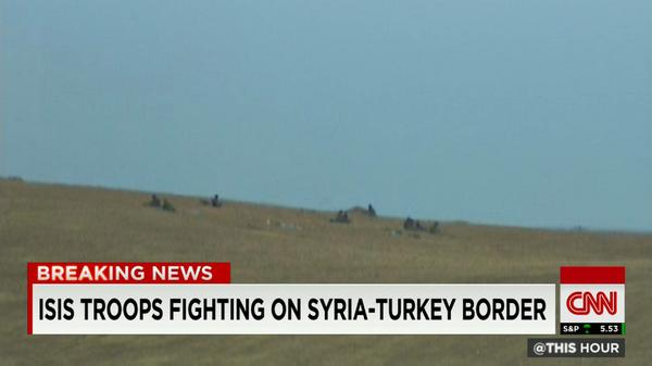 ISIS troops fighting on Syria-Turkey border