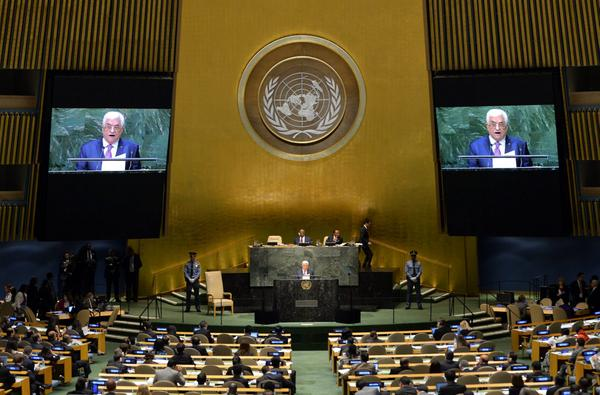 U.S. State Department condemns Abbas' 'provocative' UNGA speech
