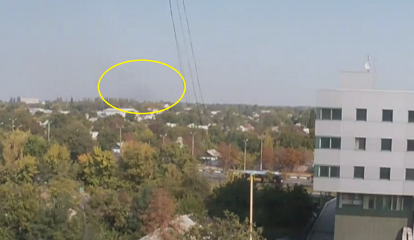 One clearly audible Grad missile attack on Donetsk airport