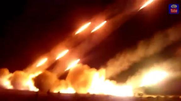 Russian Grad shelling Mariupol