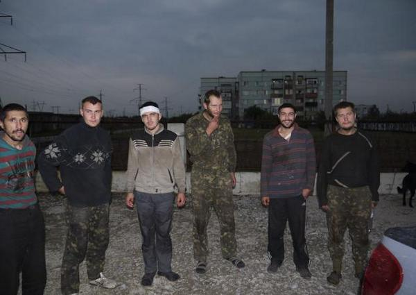 Seven Ukrainian soldiers were freed from captivity