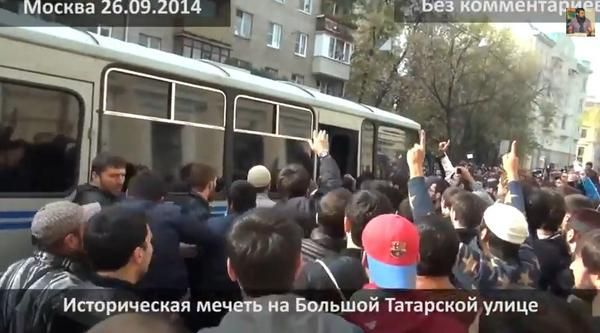 Clashes between police and Moscow's muslims