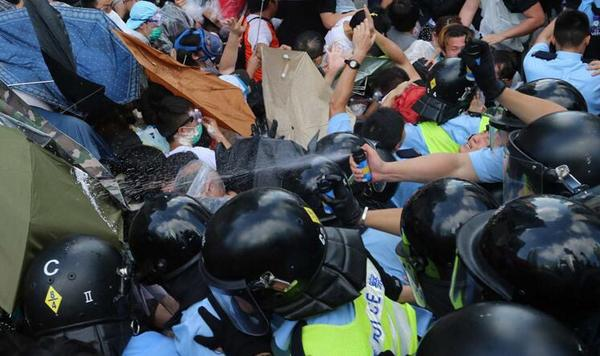 Rally and clashes in Hong Kong Today