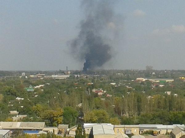 Donetsk is burning again