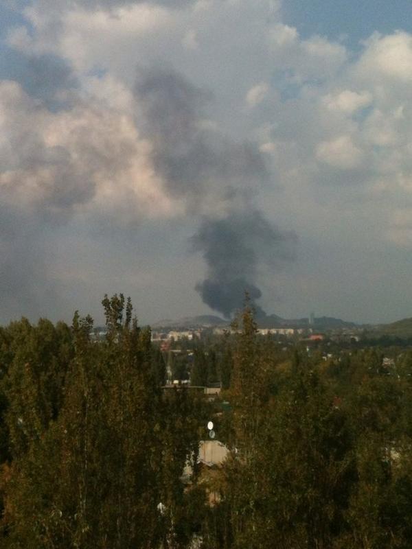 Makiivka, fire in the area of the Pochenkova mine