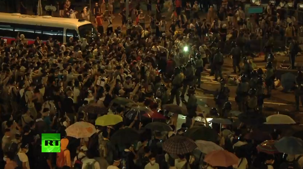 Tensions high in HongKong after police used teargas, pepper spray against protesters