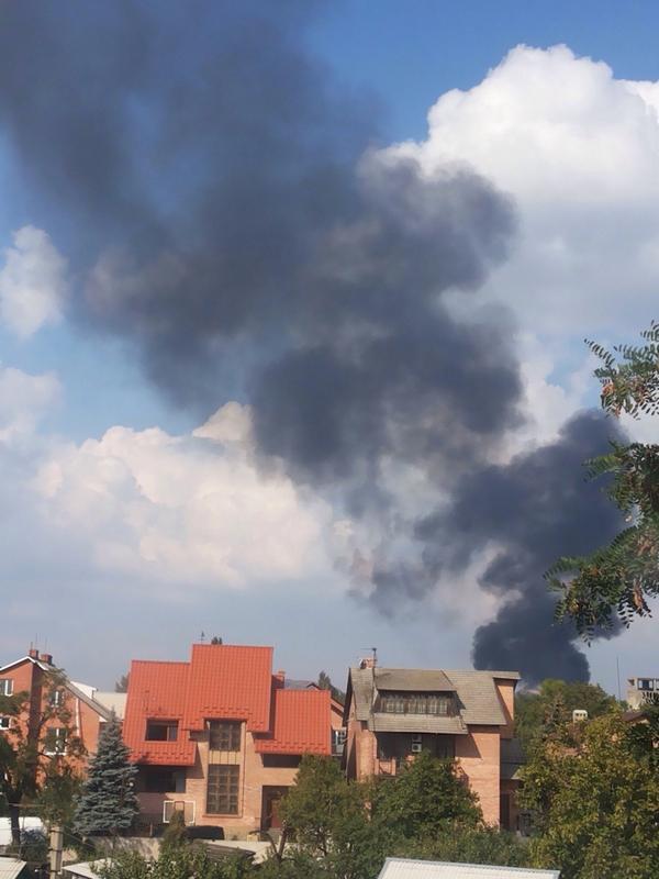 Heavy smoke in Donetsk