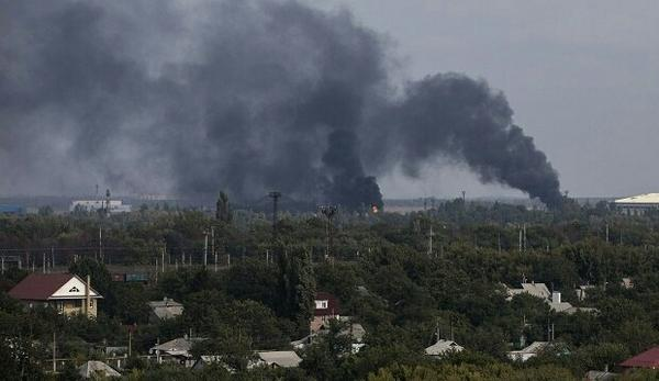 Powerful explosions across Donetsk