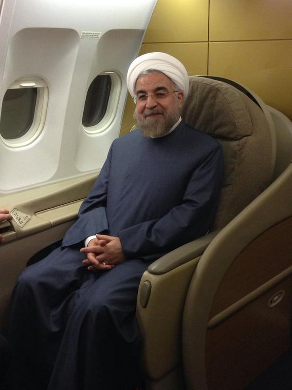 @HassanRouhani leaves New York for Russia