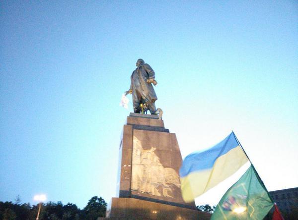 Kharkiv begin to saw Lenin